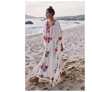 Spell & The Gypsy Sayulita Embroidered Kaftan M/L